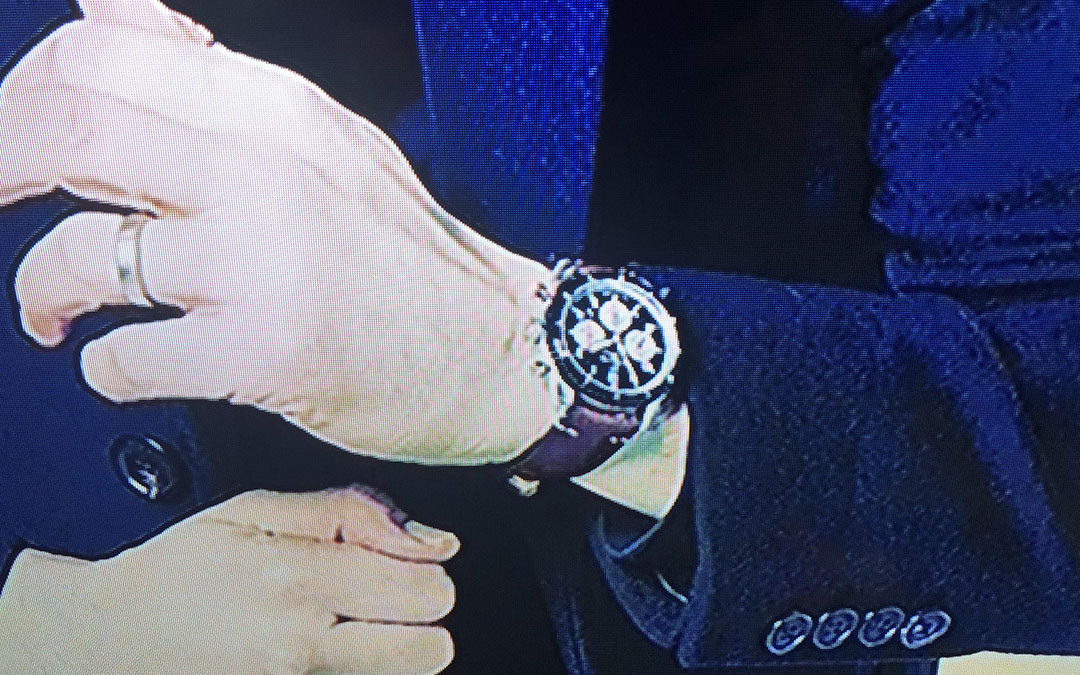 Can you identify Adam Driver's watch?