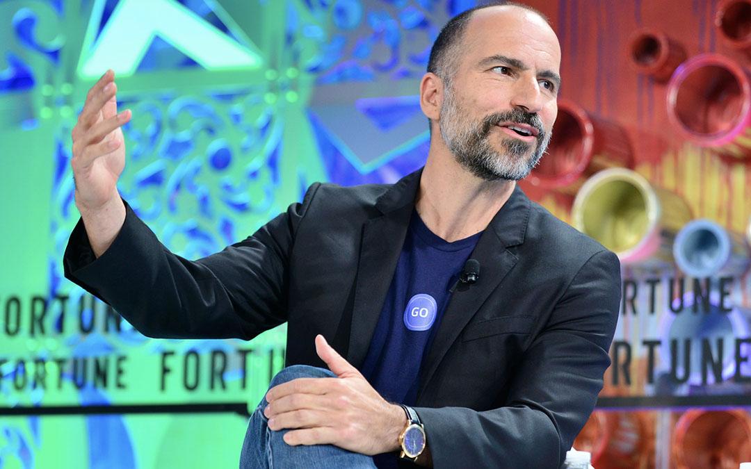 Can you identify Uber CEO's Dara Khosrowshahi watch?